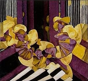 Violet et jaune, réminiscence 1921 Pompidou.JPG