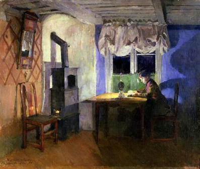 Harriet Backer - la lumina lampii.JPG