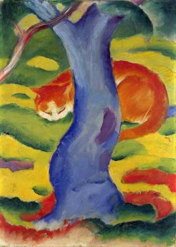 Franz Marc - cat behind a tree.jpg
