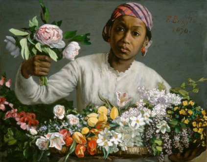 Bazille - Young Woman with Peonies 1870.jpg