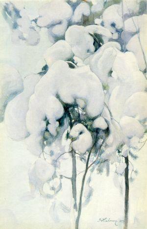 (Jeunes pins enneigés) -Pekka Halonen.jpg