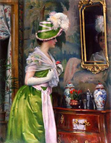 Vid toiletten - At the mirror-table 1889 Gunnar Berndtson.jpg