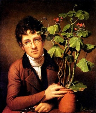 American artist Rubens Peale with Geranium paint by Rembrandt Peale (1778-1860) - Washington National Gallery of Art.jpg