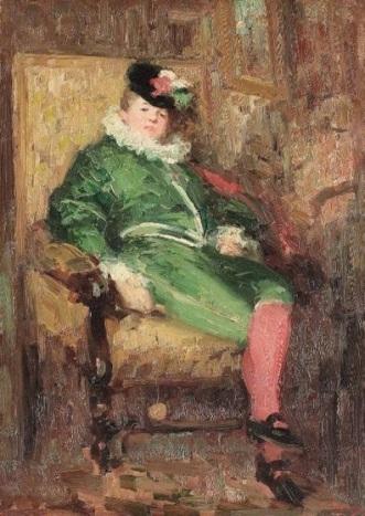 Colombina in verde - Grigorescu - colectie particulara Franta.jpg