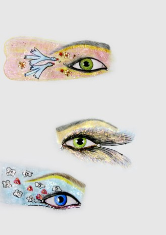 Shirin-Aliabadi_Eye-Am-A-Bird_2009_Pencil-and-glitter-on-paper_30x21cm.jpg