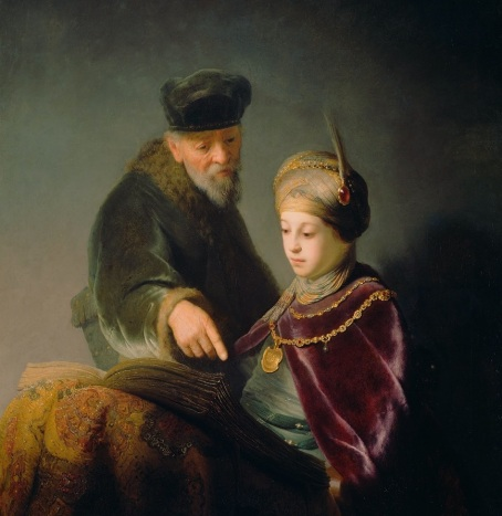 rembrandt - A Young Scholar and his Tutor  about 1629 - 1630 The J. Paul Getty Museum Los Angeles.jpg