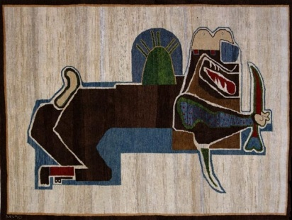 Parviz_Tanavoli_Rugs_Collection_Lion_and_Sword_II_1979_Bijar_weave_158x208cm.jpg